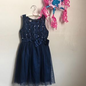 Holiday editions sequin & tulle dressy dress M 7/8
